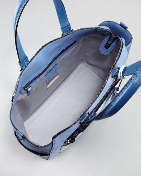 Uniform Satchel Bag, Blue Ombre