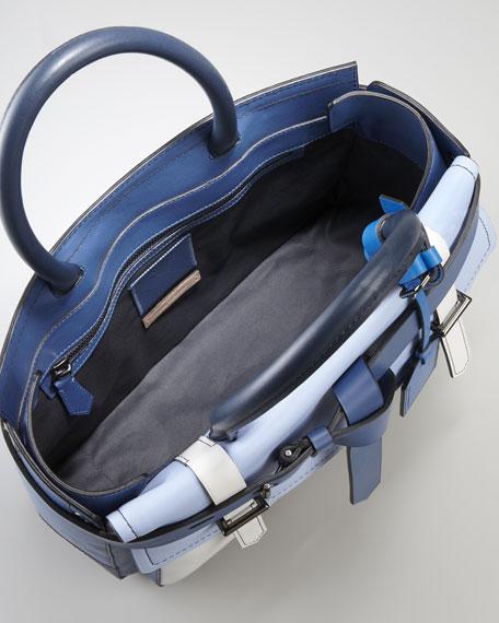 Boxer Tote Bag, Blue/Multicolor