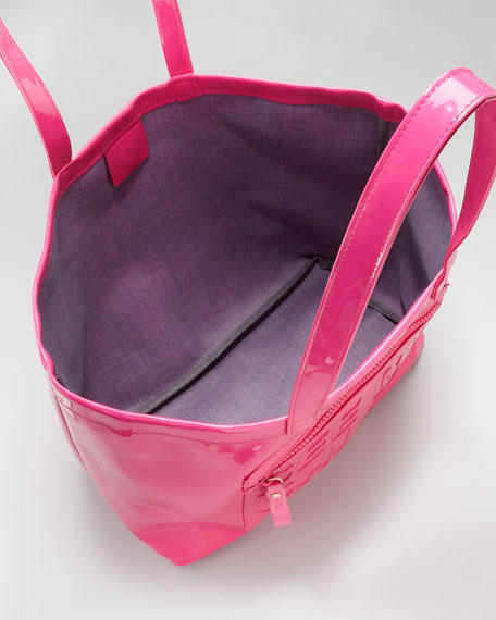 Large Zip File Tote Bag, Fuchsia