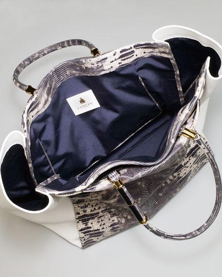 Moon River Snake-Embossed Tote Bag