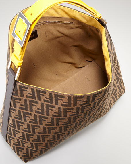 Zucca Large Hobo Bag, Tobacco/Ochre