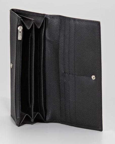 Veau Foulonne Leather Flap Wallet