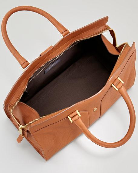 Y Ligne Medium Tote Bag, Brown