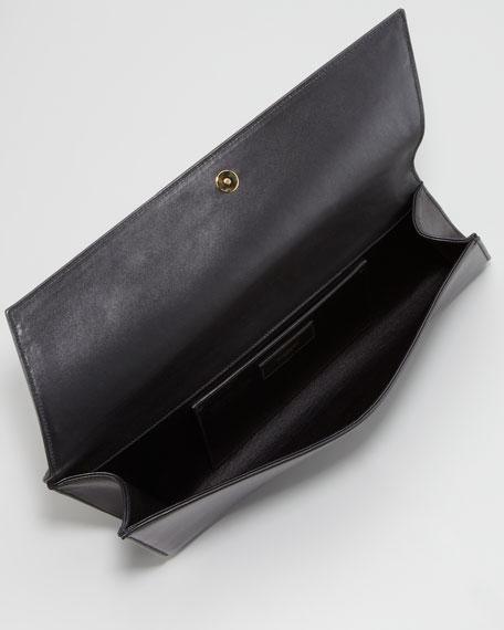 Diagonale Leather Clutch Bag, Black