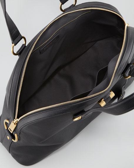 Muse Large Domed Satchel Bag, Black