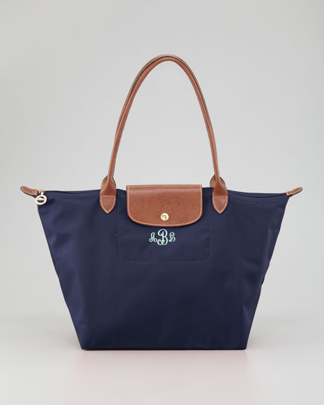 Le Pliage Monogrammed Shoulder Tote Bag