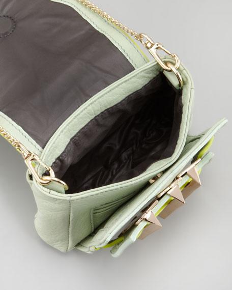 Alina Leather Crossbody Bag, Mint