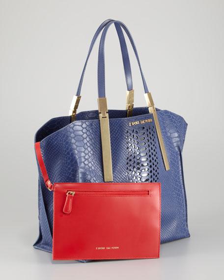 Danes Dry Python-Print Small Shopper Bag, Marlin