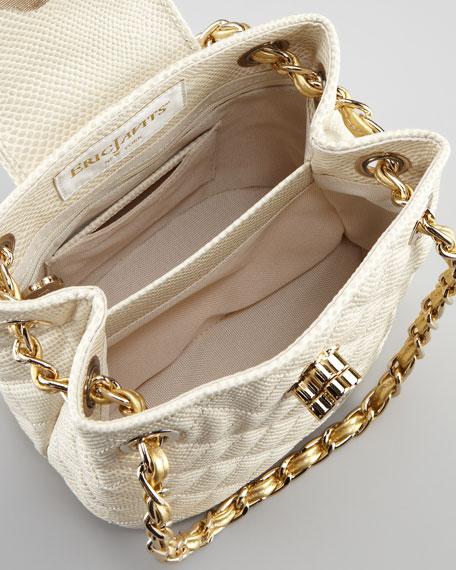Liz Mini Quilted Shoulder Bag, Bone/Golden