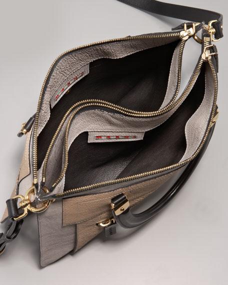 Marni Colorblock Dual Flat Satchel Bag