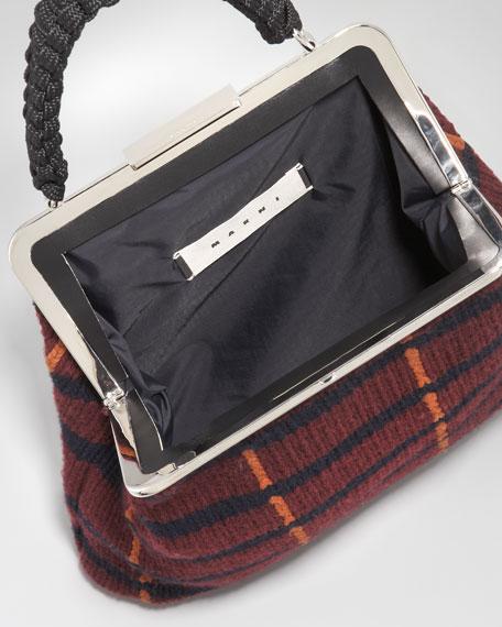 Cashmere Yarn Frame Bag