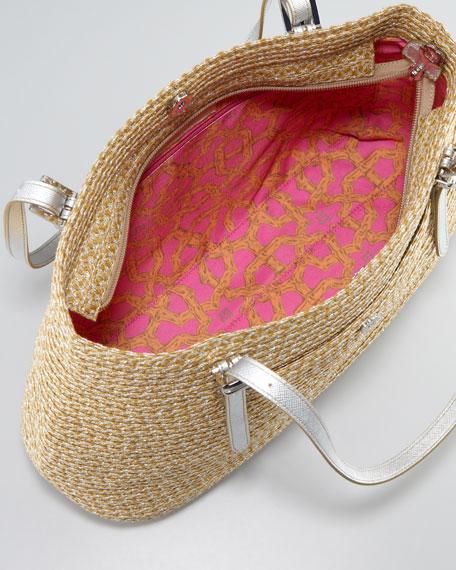 Jav II Square Squishee Tote Bag, Natural