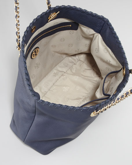 Marion East-West Tote, Navy