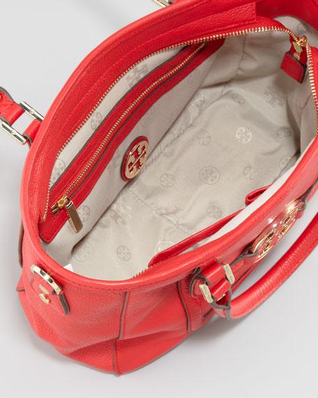 Amanda Mini Satchel Bag, Red