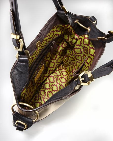 Sydney Colorblock Tote Bag, Bone Multi
