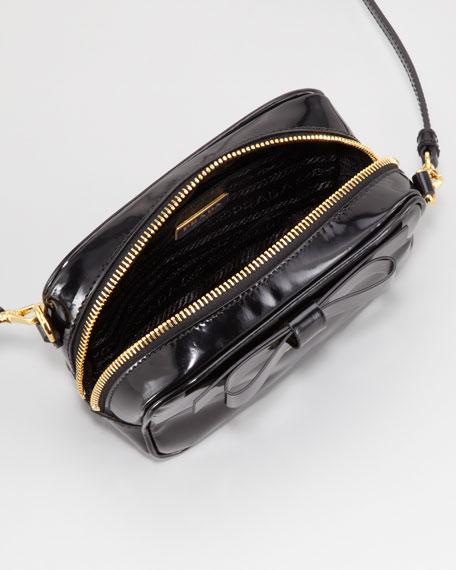 Spazzolato Bow Crossbody Bag, Black