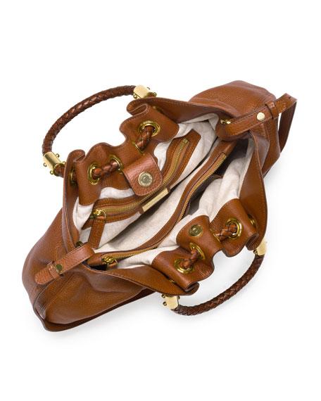 Skorpios Pebbled Leather Ring Tote