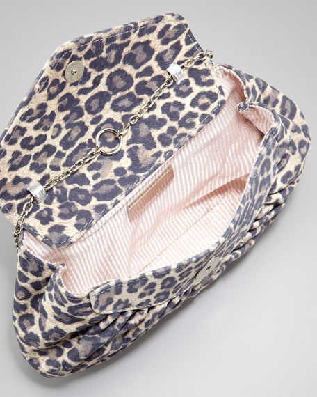Diana Washed Leopard-Print Clutch Bag