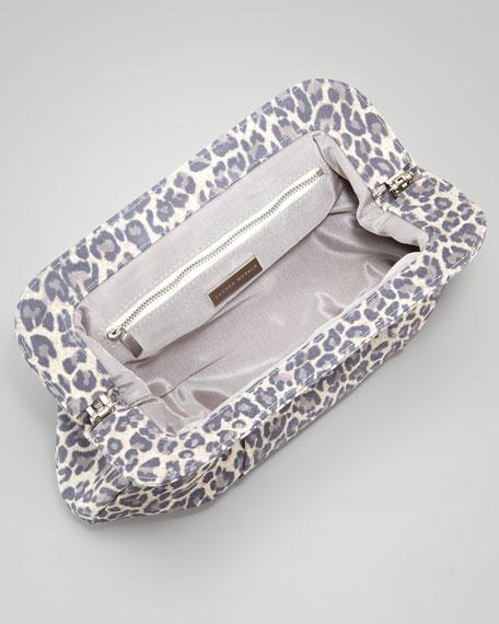 Tatum Washed Leopard Clutch Bag