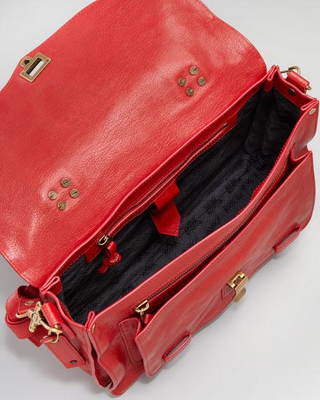 PS1 Medium Satchel Bag, Red