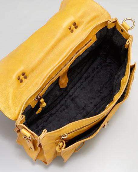 PS1 Large Satchel Bag, Mustard