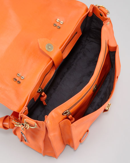 PS1 Medium Satchel Bag, Orange
