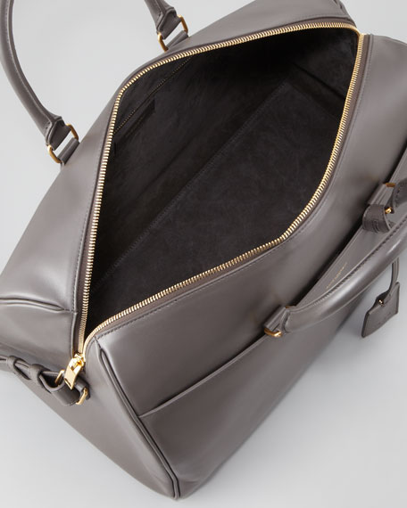 Saint Laurent Classic Duffel 12 Bag, Gray