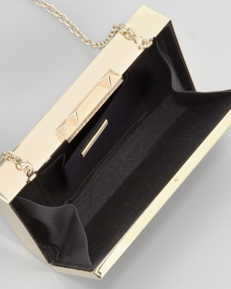 Sadie Box Clutch Bag, Black