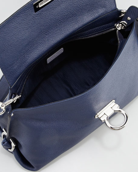 Sofia Small Satchel Bag, Navy
