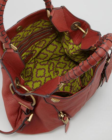 Gwen Large Shoulder Bag, Red