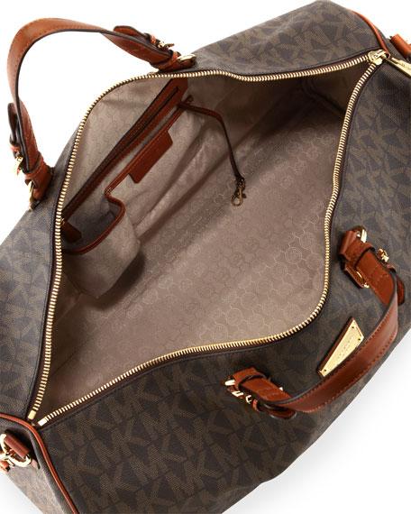 0552f073438 MICHAEL Michael Kors Large Jet Set Logo PVC Duffle Bag