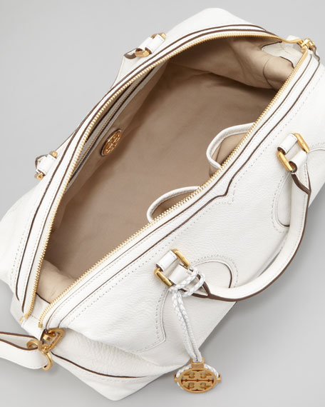Amalie Satchel Bag, Ivory