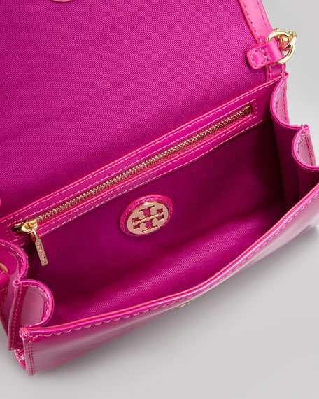 Perforated Logo Clutch Bag, Wildberry