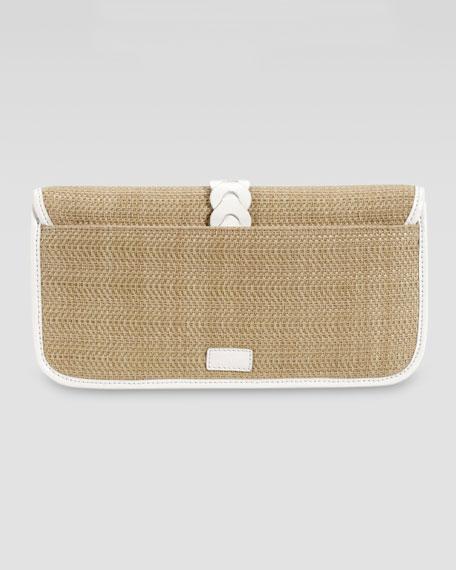 Bedford Izzie Clutch Bag, Natural/Ivory