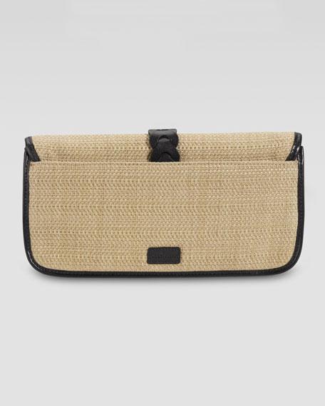 Bedford Izzie Clutch Bag, Natural/Black