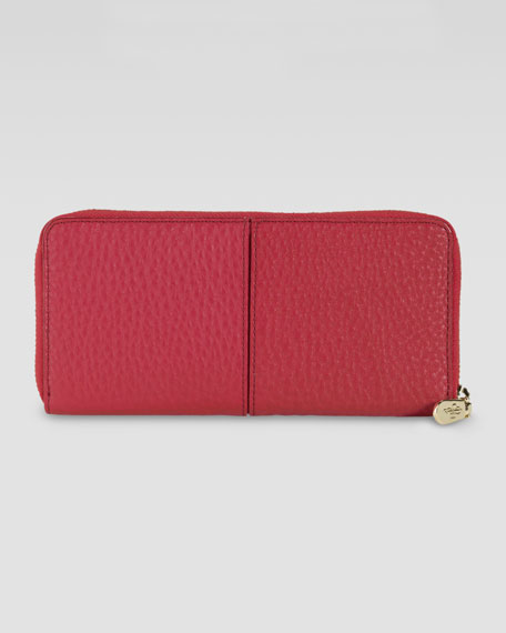 Village Travel Zip Wallet, Red