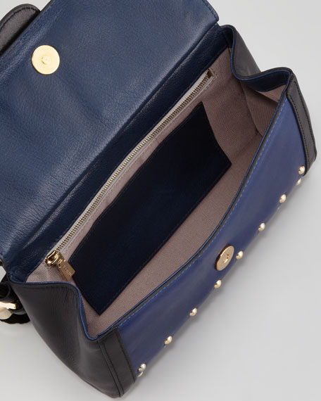 Daphne Studded Warrior Clutch Bag, Royal Blue