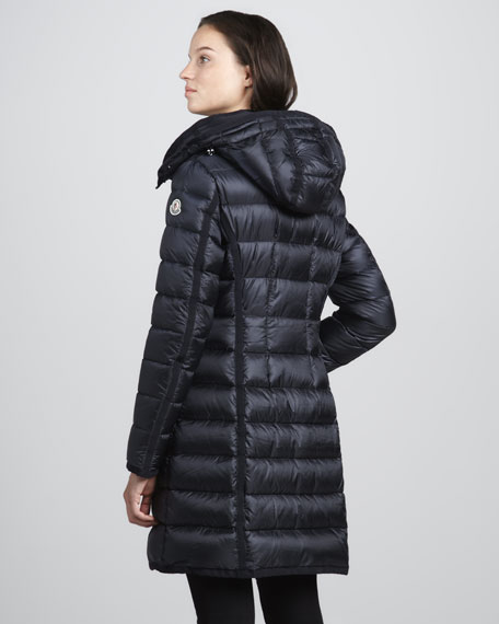 Hermine Darted-Waist Puffer Coat
