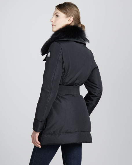 Balisier Fur-Collar Puffer Jacket