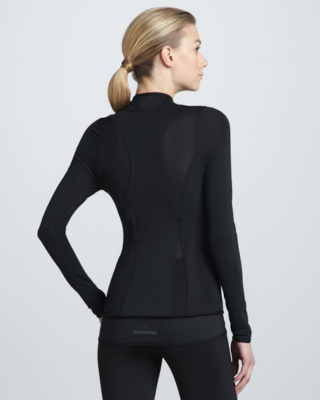 Perforated-Panel Active Jacket, Black