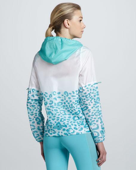 Hooded Leopard-Print Jacket