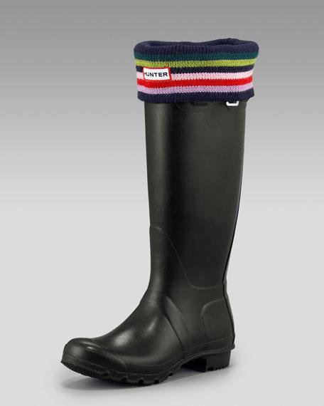 Welly Cuffed Sock, Striped
