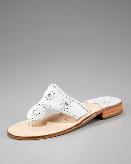 Whipstitched Thong Sandal