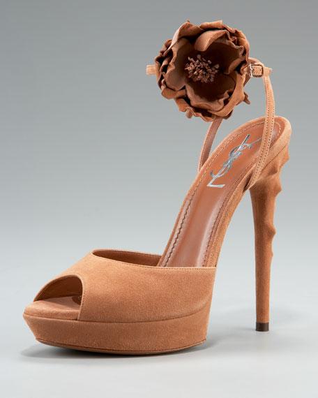 Rosette-Ankle Sandal
