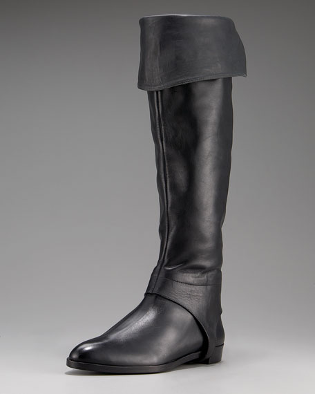 Baton Calfskin Knee Boot