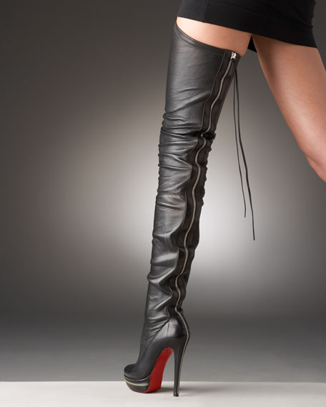 Christian Louboutin Zip-Back Over-the-Knee Boot