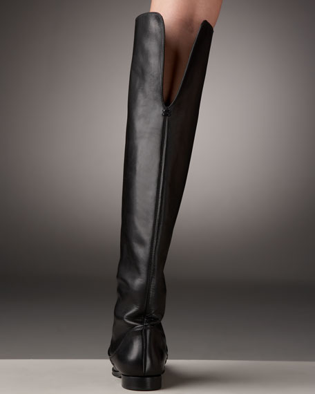 Sergio Rossi Over-the-Knee Flat Boot