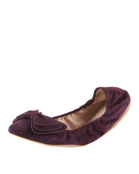 Suede Bow Ballerina Flat