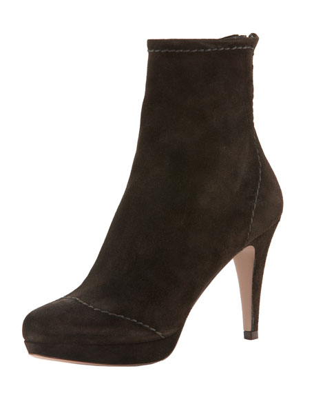 Preppy Suede Ankle Boot