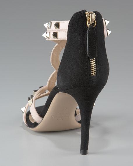 Studded T-Strap Sandal